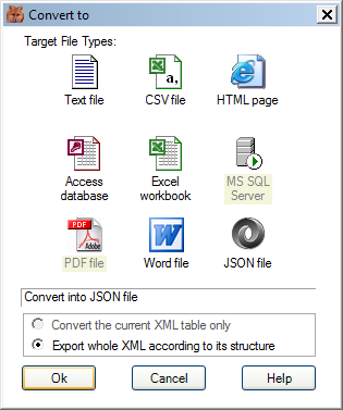 Converting XML to JSON by XMLFox
